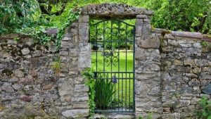 Gate in old wall