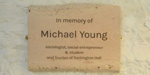 The Michael Young plaque in situ