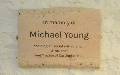 New plaque honours Michael Young's legacy at Dartington